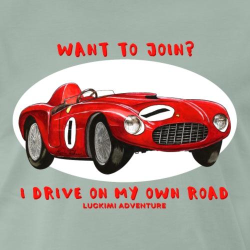 Happy Car Red - Premium-T-shirt herr