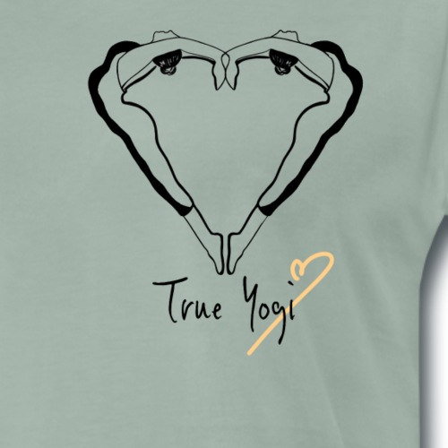 Yoga T-shirt - True Yogi schwarz - Männer Premium T-Shirt