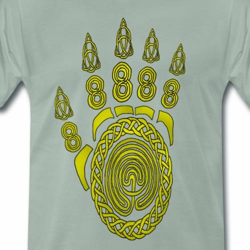 Celtic Dragon Footprint - Men's Premium T-Shirt
