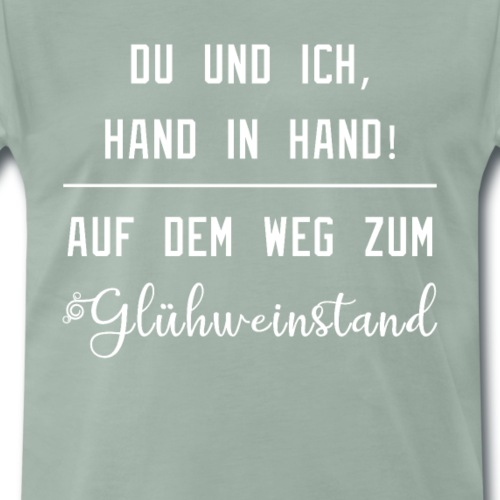 Weihnachten Glühwein Freunde - Männer Premium T-Shirt