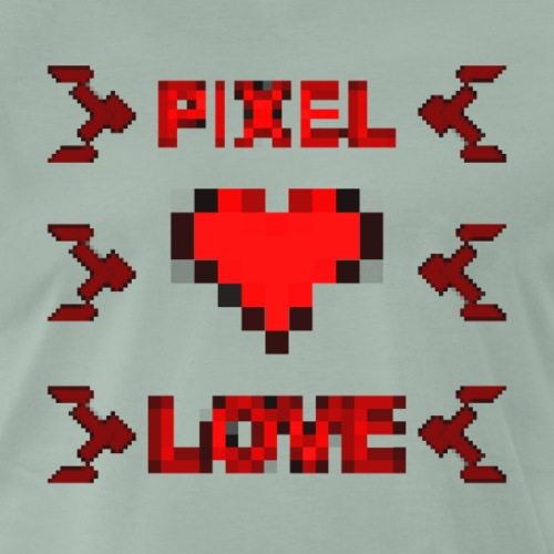 Pixel Love - Männer Premium T-Shirt
