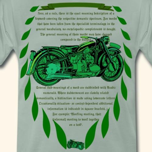 Old School Motorrad Oldtimer Grün
