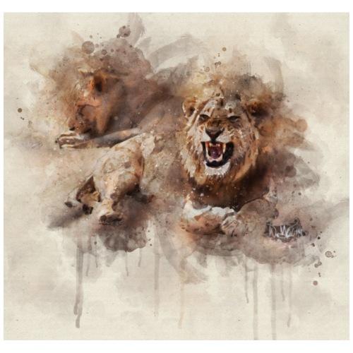 Aquarelle de lion 01 bord dur - T-shirt Premium Homme