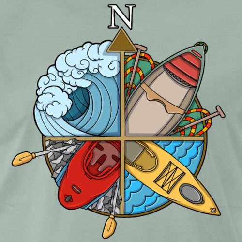 Paddling Compass - Men's Premium T-Shirt