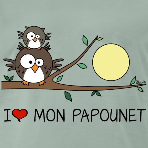 Papa Hibou, I Love Mon Papounet - T-shirt Premium Homme