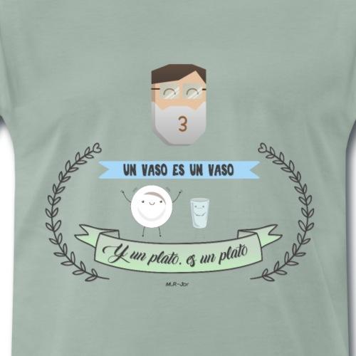 Plato y vaso - Camiseta premium hombre