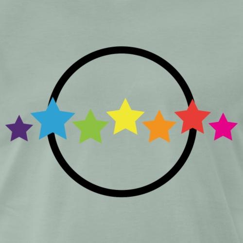 Planet mit Regenbogen Sternen 80s Teenager Style
