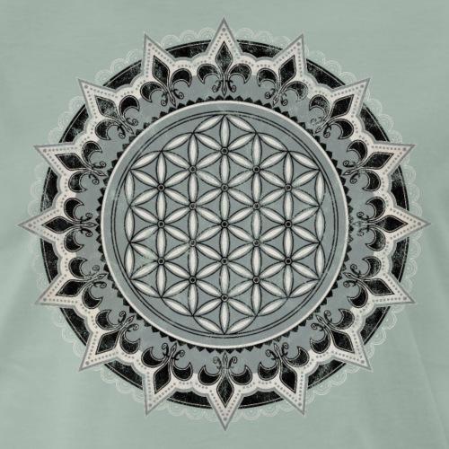 Blume des Lebens, Yoga, Heilige Geometrie, vintage - Männer Premium T-Shirt