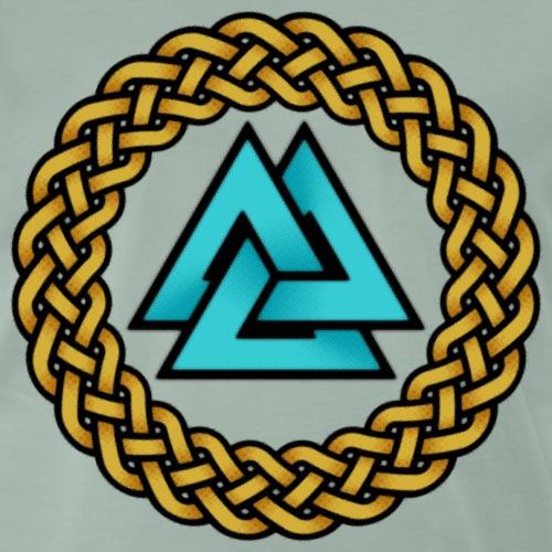 Odin Valknut Trinity Triquetra Norse Celtic Viking - Men's Premium T-Shirt