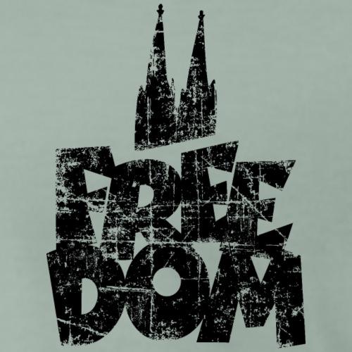 Free Dom (Vintage/Schwarz) Kölner Dom Köln - Männer Premium T-Shirt
