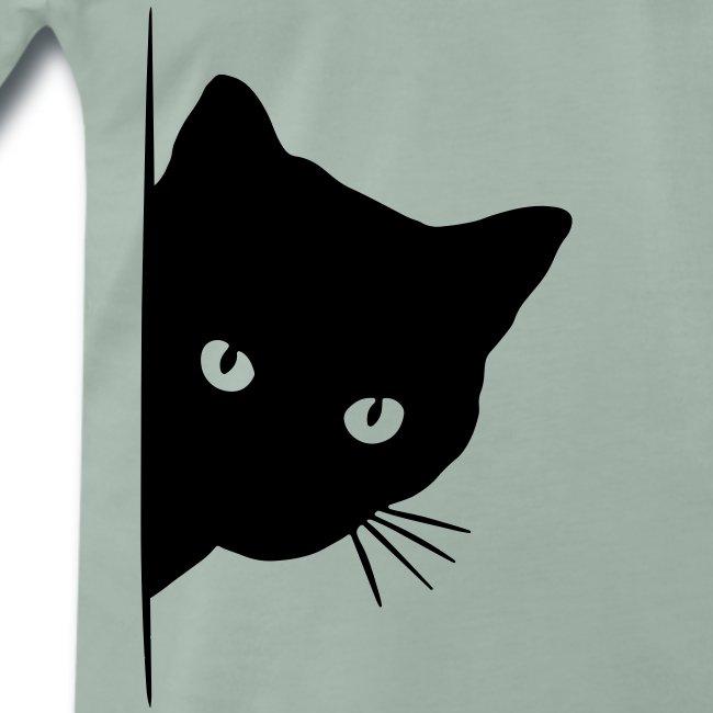 Vorschau: peeking cat - Männer Premium T-Shirt