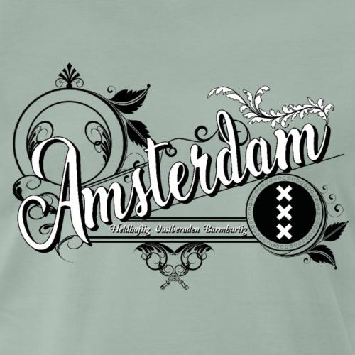 Amsterdam vintage b w - Mannen Premium T-shirt