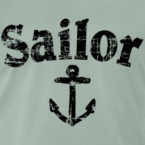 Sailor Anker Segeln Segel Segler (Vintage/Schwarz) - Männer Premium T-Shirt