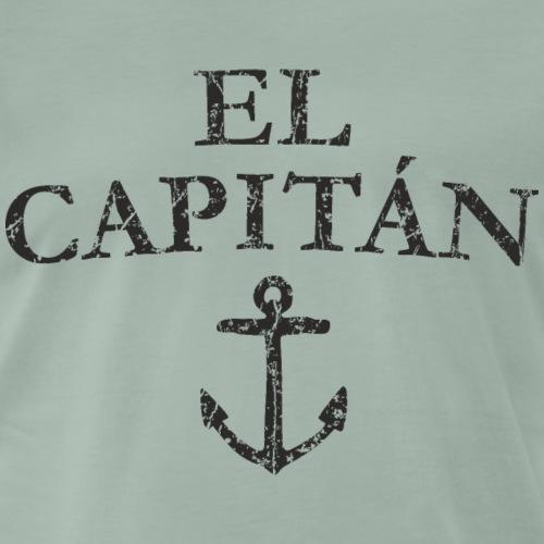 El Capitan Anker (Vintage Schwarz) Kapitän Käpt'n - Männer Premium T-Shirt