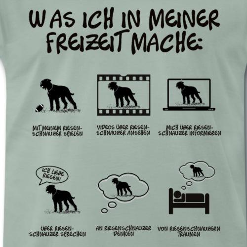 Dinge in meiner Freizeit Riesenschnauzer Hund - Männer Premium T-Shirt