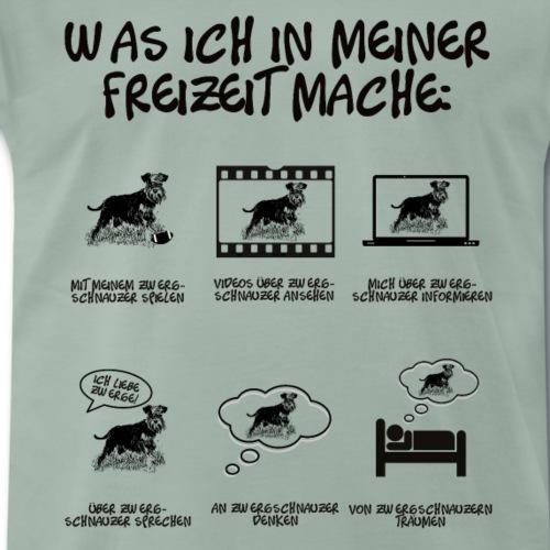 Dinge in meiner Freizeit Zwergschnauzer Hund - Männer Premium T-Shirt
