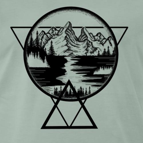 Geometrische Landschaft - Männer Premium T-Shirt