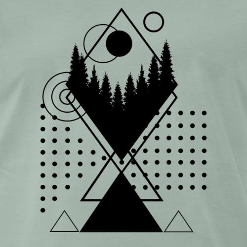 Wald geometrisch - Männer Premium T-Shirt