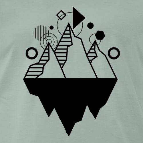 Abstrakte Berge - Männer Premium T-Shirt