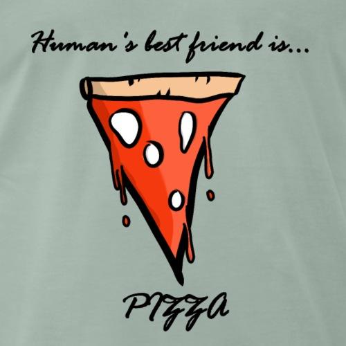 pizza is human's best friend - Maglietta Premium da uomo