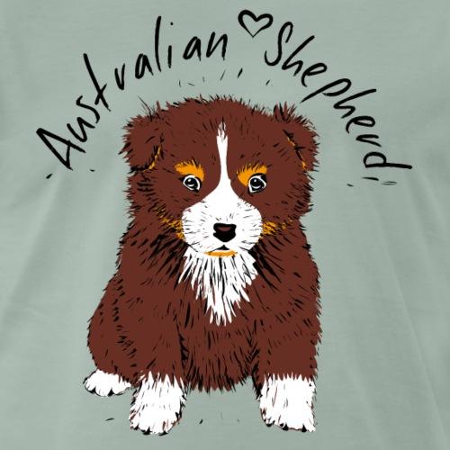 Australian Shepherd Welpe - Hund red tri - Männer Premium T-Shirt