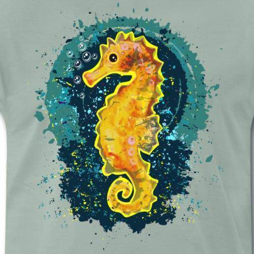 Fröhliches Seepferdchen - Männer Premium T-Shirt
