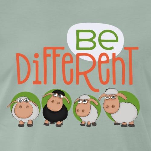 be different schafe - lustige Schaf Herde Gang