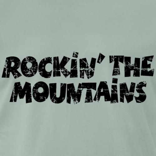 Rockin the Mountains Berge Rocken (Vintage/Black) - Männer Premium T-Shirt