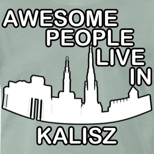AWESOME PEOPLE LIVE IN KALISZ - Koszulka męska Premium