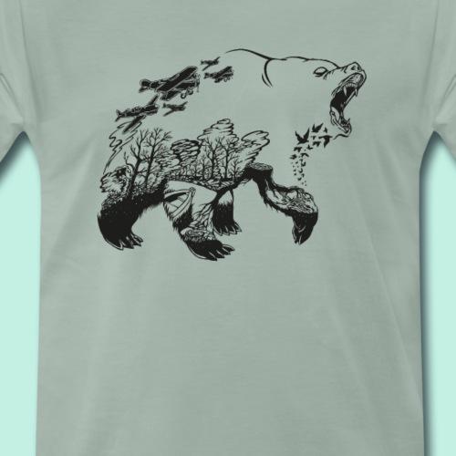 Bär Wald Natur T-Shirt - Männer Premium T-Shirt