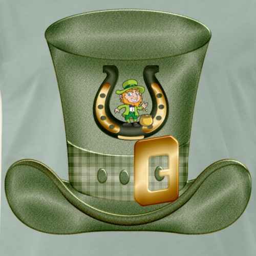 Irish St Patricks Lucky Horse Shoe Hat - Men's Premium T-Shirt