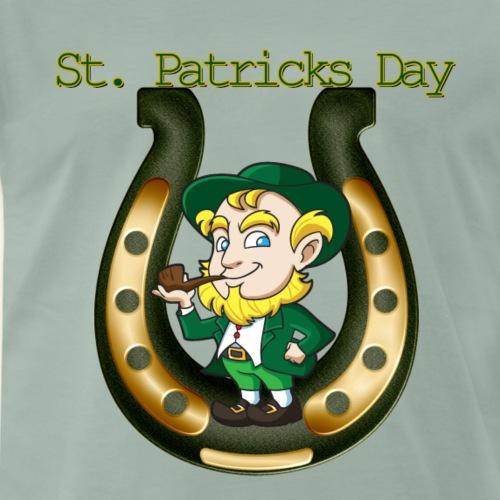 Irish St Patricks Day Lucky Horse Shoe leprechaun - Men's Premium T-Shirt
