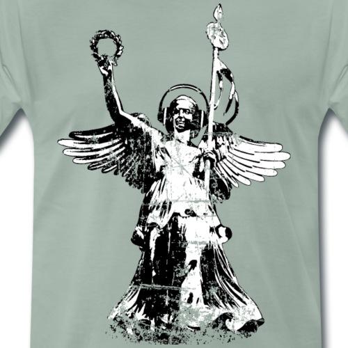 Goldelse mit Kopfhörer (Vintage Schwarz/Weiß) - Männer Premium T-Shirt