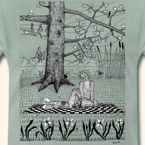 Connected - im Stadtpark mit Enten - Männer Premium T-Shirt