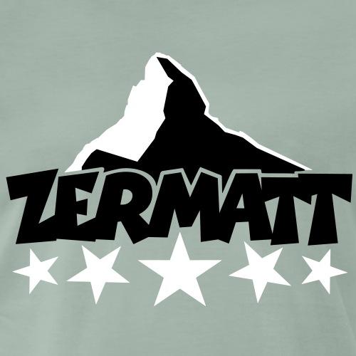 Zermatt Matterhorn 5 Sterne - Männer Premium T-Shirt