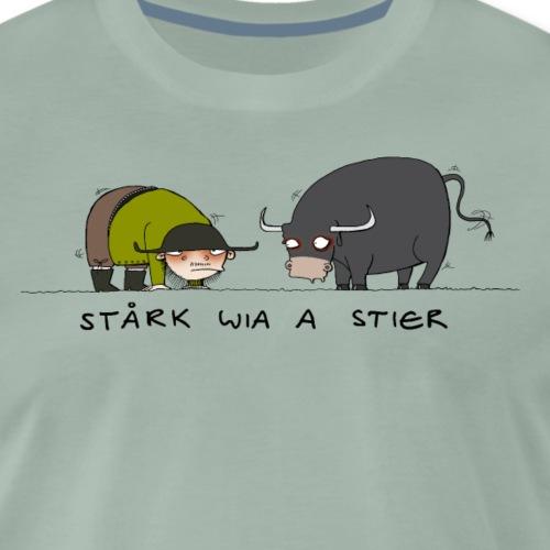 AH Stork wia a Stier - Männer Premium T-Shirt