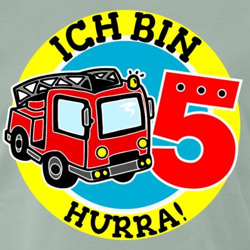 5. Geburtstag Feuerwehr Hurra ich bin 5 - Männer Premium T-Shirt