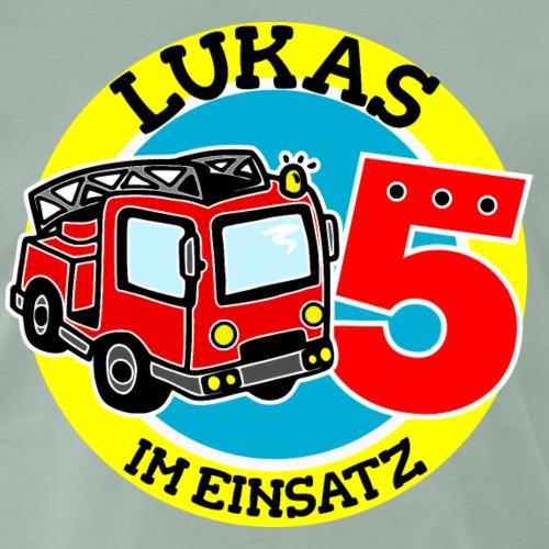 Lukas Name 5. Geburtstag - Männer Premium T-Shirt