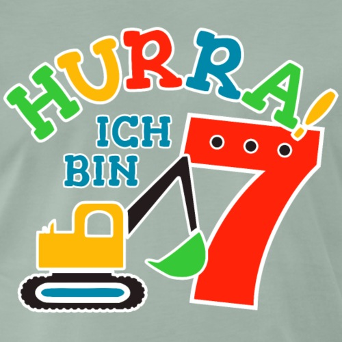 7. Geburstag Bagger Nummer 7 - Männer Premium T-Shirt