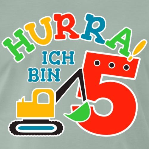 5. Geburstag Bagger Nummer 5 - Männer Premium T-Shirt