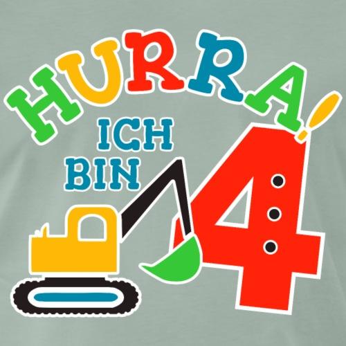 4. Geburstag Bagger Nummer 4 - Männer Premium T-Shirt