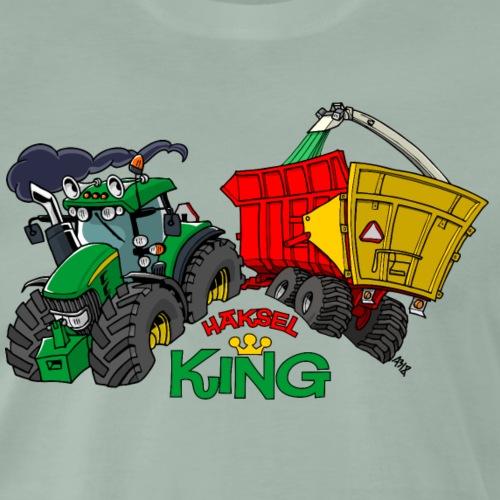JohnDeere Haksel KING - Mannen Premium T-shirt