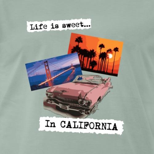 Life is sweet in California, poster travel t shirt - Men's Premium T-Shirt