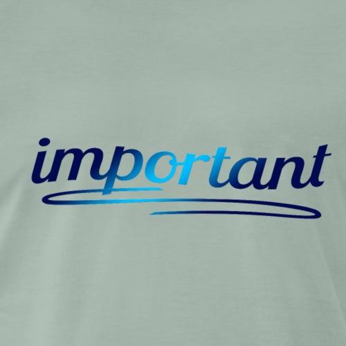 Important - Wichtig - Männer Premium T-Shirt