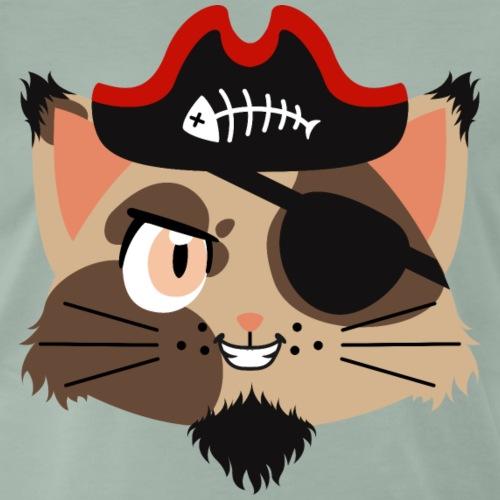 Wildkatze-Pirat - Männer Premium T-Shirt