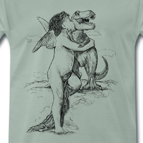 Dinolove - Männer Premium T-Shirt