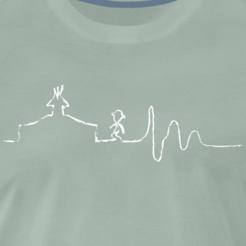 SCOUT.beat – Herzschlag Zelt & Mensch – Weiß - Männer Premium T-Shirt