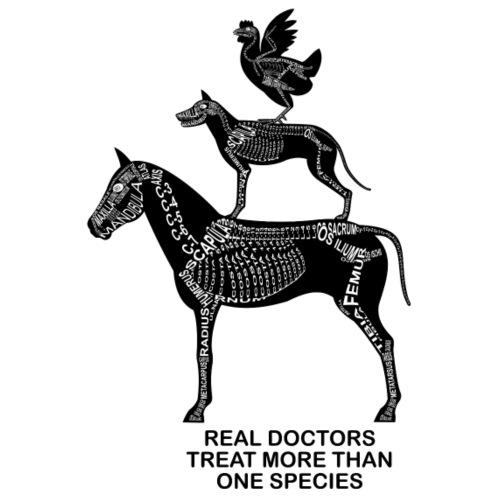 Real Doctors ... Pferd, Hund, Huhn - Männer Premium T-Shirt