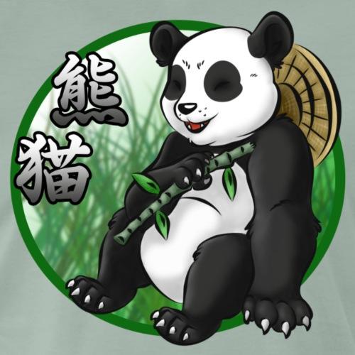 Panda & Bamboo - Koszulka męska Premium