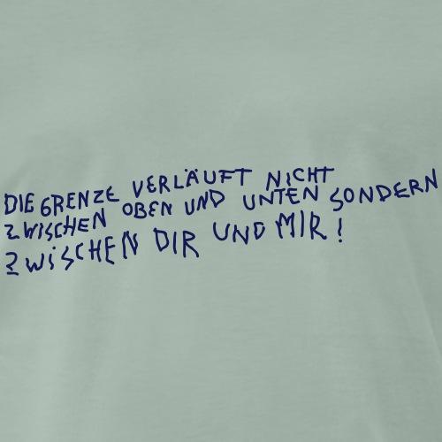 Graffiti: Zwischen Dir und Mir - Männer Premium T-Shirt